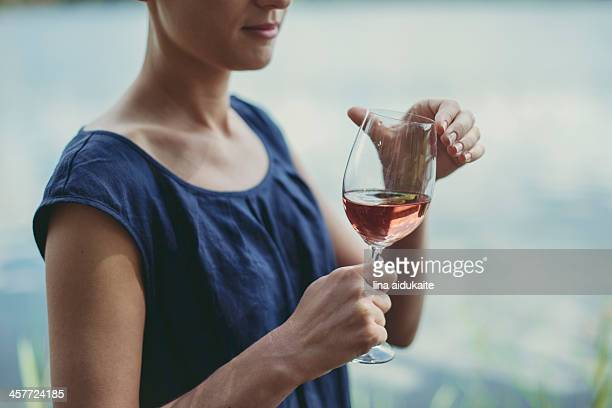 wine and summer