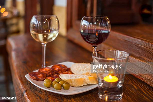 wine and tapas - granada spain stock pictures, royalty-free photos & images