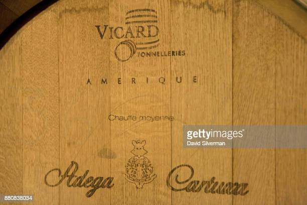 A wine barrel made by the French coopers Vicard Tonneliers from American oak with a medium toast is used by the Adega da Cartuxa winery for aging...