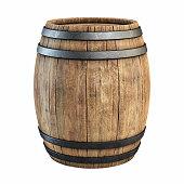wine barrel over white background