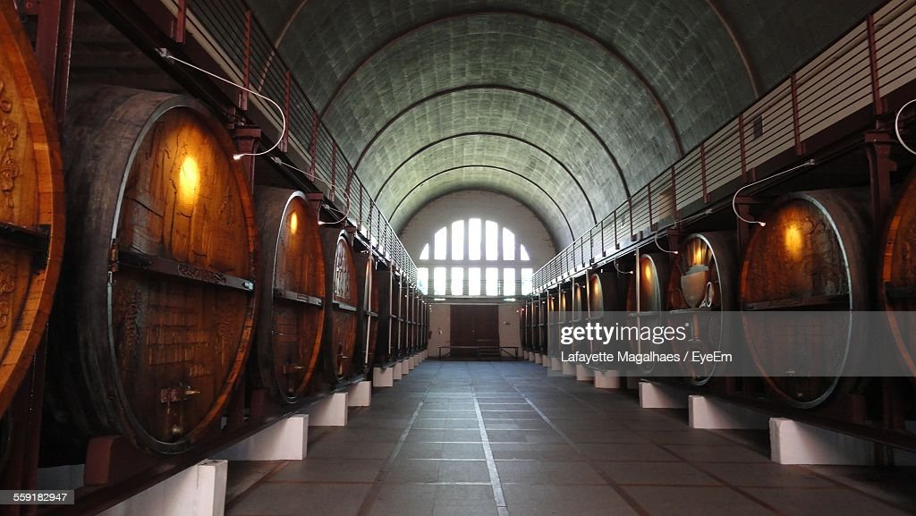 Wine Barrels In Cellar : Stock Photo