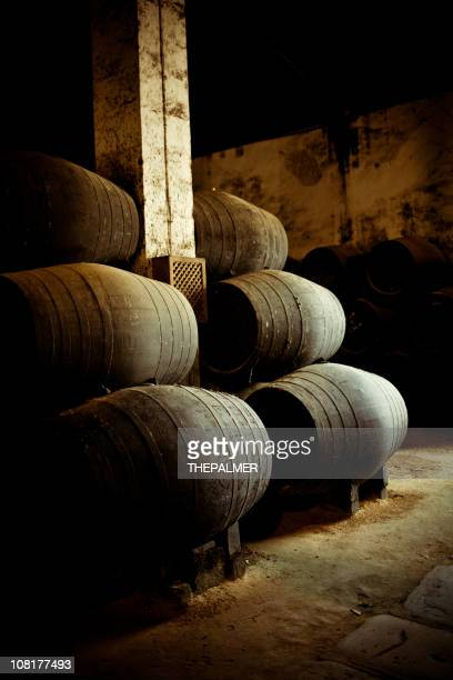 wine barrels - andalucia stock pictures, royalty-free photos & images