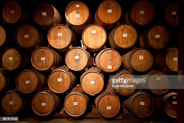 wine barrels - winemaking stock pictures, royalty-free photos & images
