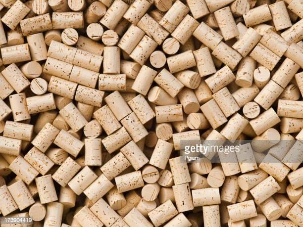 Wine bottle cork background