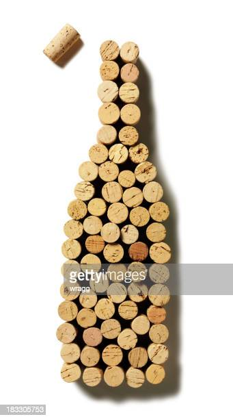 wine bottle corks - wine cork stock photos and pictures