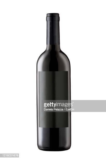 wine bottle isolated on white background - wine bottle stock pictures, royalty-free photos & images