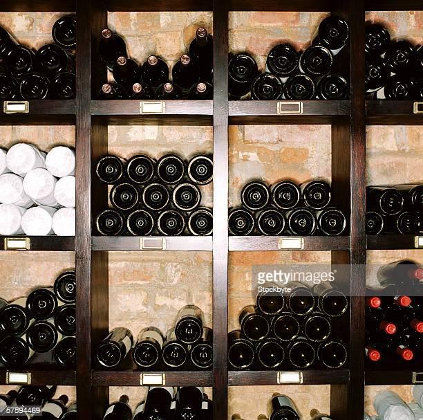 A wine bottle rack