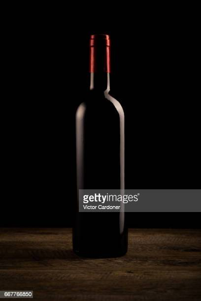Wine bottle silhouette