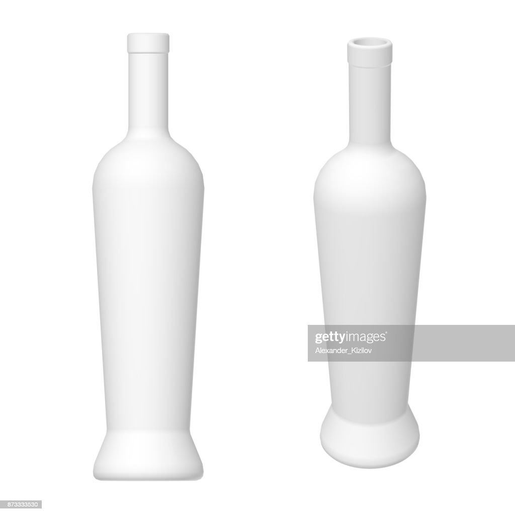 wine bottle template 3d render stock photo getty images