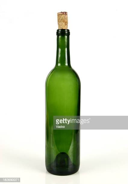 wine bottle with cork - cork material stock photos and pictures