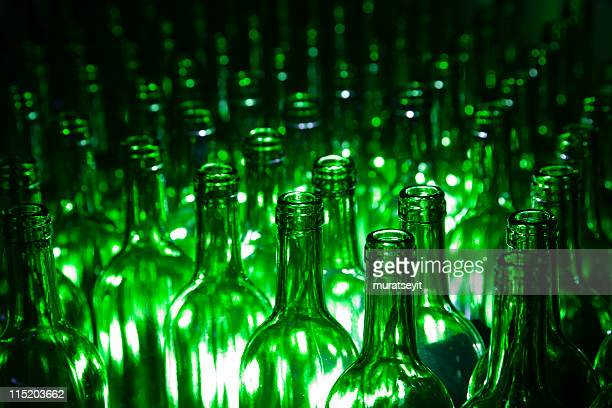 wine bottles in a wineyard - wineyard stock photos and pictures