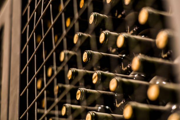 Wine Bottles Wine Cellar Mendoza - Fine Art prints