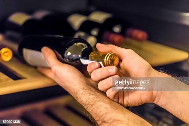 wine cabinet - ワインセラー ストックフォトと画像