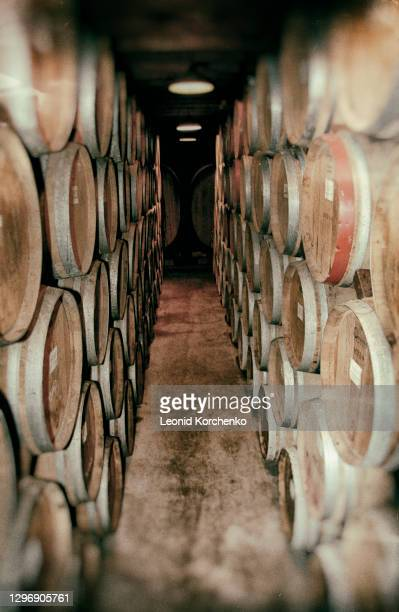 wine casks,  napa valley, ca - 100th anniversary stock pictures, royalty-free photos & images