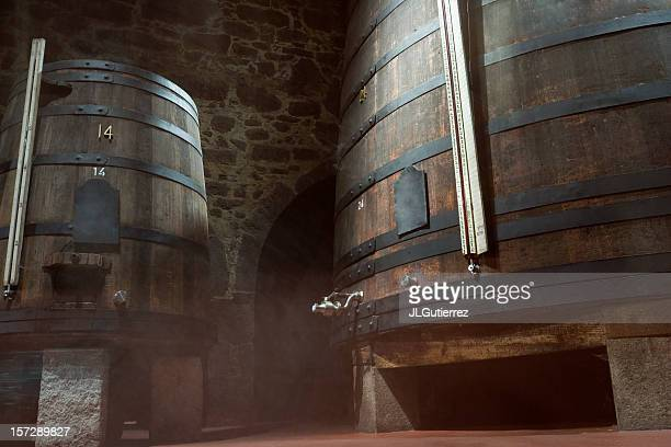 wine cellar, fermentation - douro valley stock photos and pictures