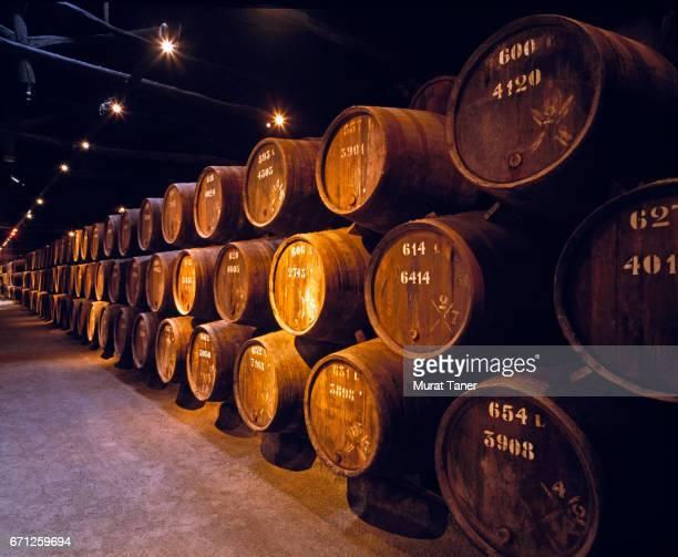 wine cellar in porto - ワイナリー ストックフォトと画像