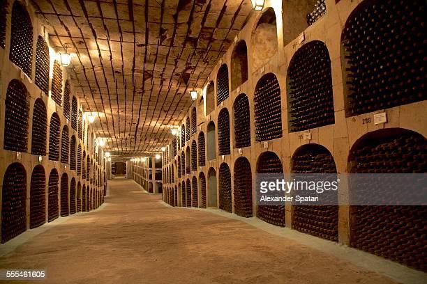 wine cellar milestii mici in moldova - moldova stock pictures, royalty-free photos & images