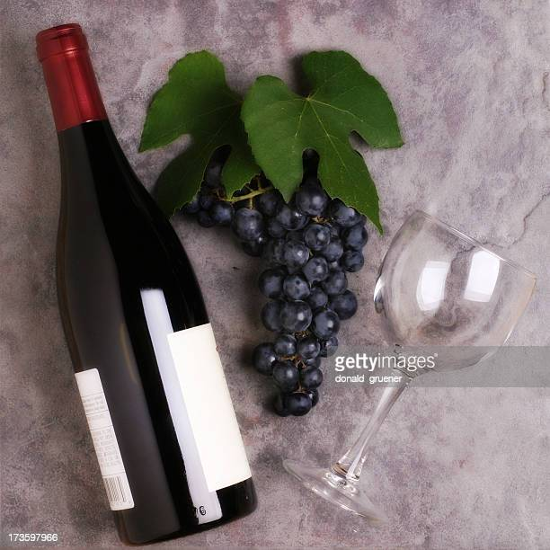 wine composition - pinot noir grape stock photos and pictures