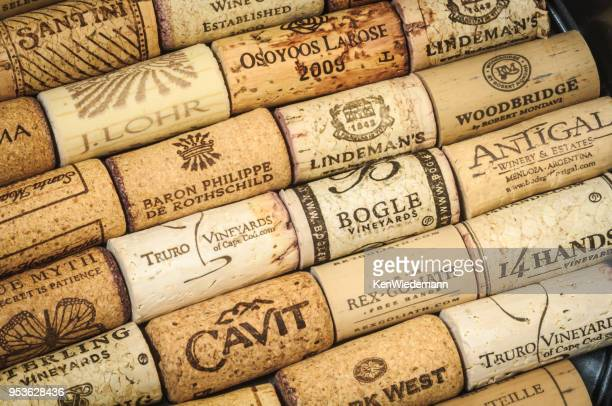wine cork selection - eastern usa stock photos and pictures