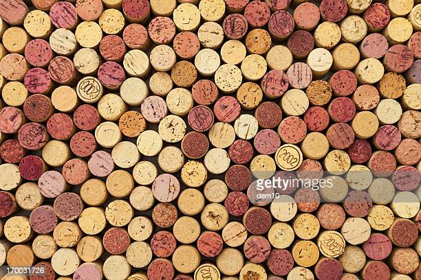 wine corks background - wine cork stock photos and pictures