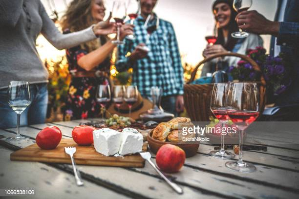 ワインを飲むと畑で味見 - ワイナリー ストックフォトと画像