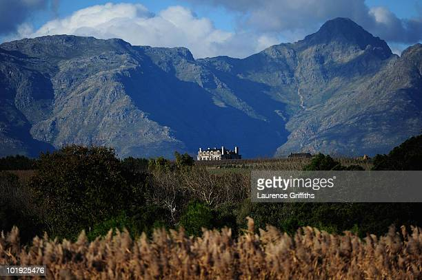 Wine Estate sits proudly at the foot of the Mountains near Stellenbosch on June 9 2010 in Cape Town South Africa
