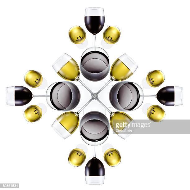 Wine glass snowflake