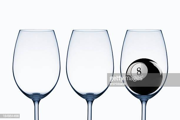 Wine Glasses And Black Eight