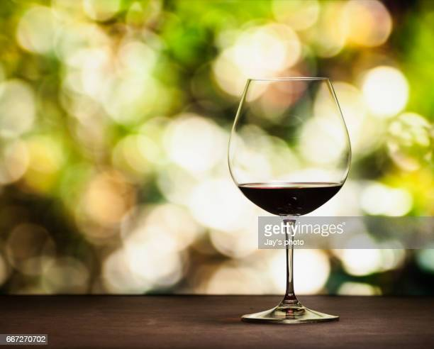 Wine in nature background