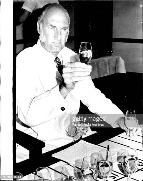 Wine judging for the 1973 Royal Easter Show Dr BC Rankine officer in charge technical serviceThe Australian Wine Resheach Institute from Clen Osmond...
