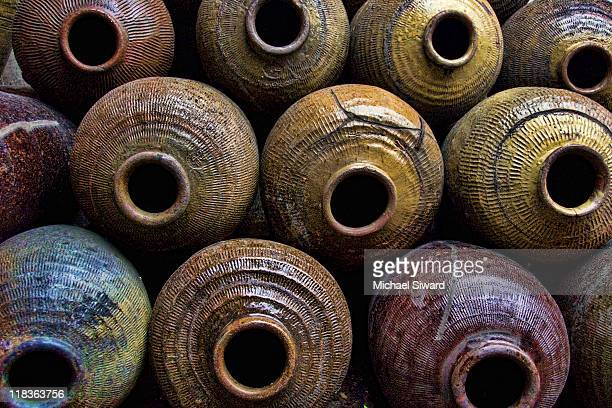 wine jugs - michael siward stock pictures, royalty-free photos & images