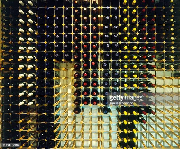 Wine laid down on racks, Corney & Barrow merchants