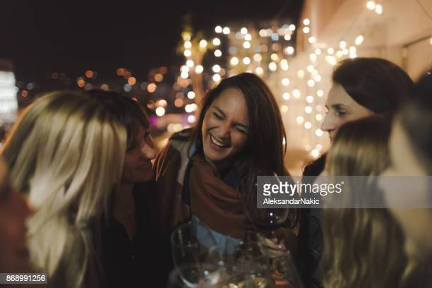 Wine lovers in night out