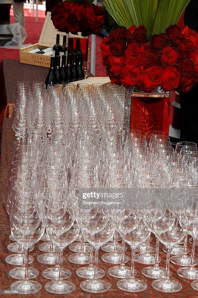 Sterling Wine Tasting & Harry Winston Diamond Mini-Oscar Fashion Preview : News Photo