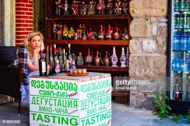 Wine shop in Tbilisi, Georgia
