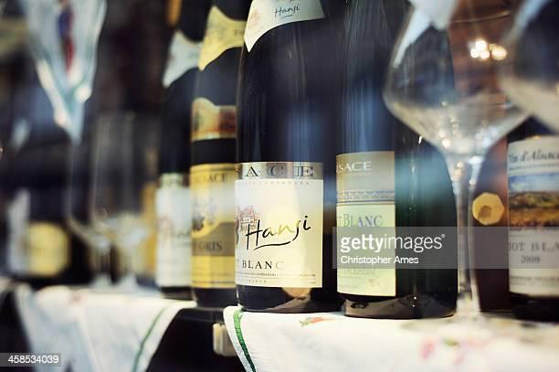 Wine Shop Window Display in Alsace France
