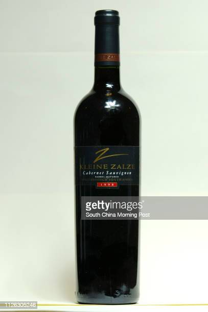 Wine shots for wine promotion for Marketing at Orient Pacific Limited in Central A bottle of Kleine Zalze Barrel Matured Cabernet Sauvignon 1998...
