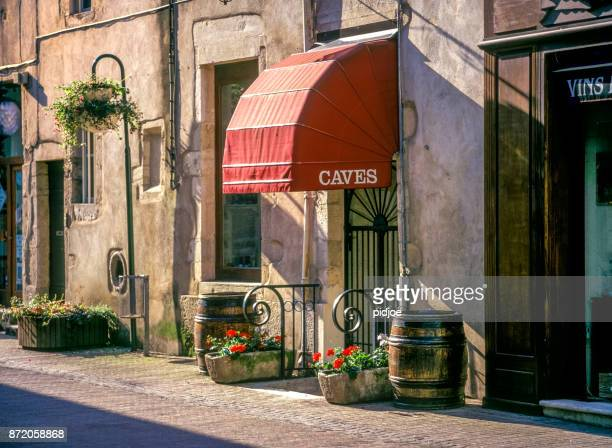 Wine street in Beaune, Burgundy, France