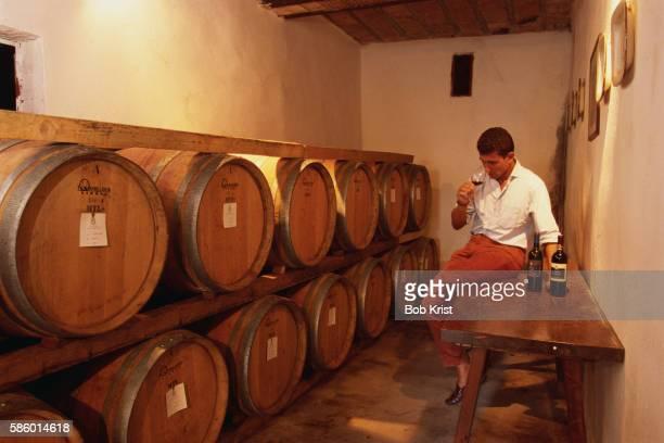 Wine Taster Sampling Wine