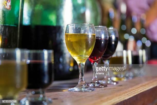 Wine tasting at the Casa Vieja in the Valle de Concepcion near Tarija capital city in the Tarija Department Jose Maria Aviles southern Bolivia