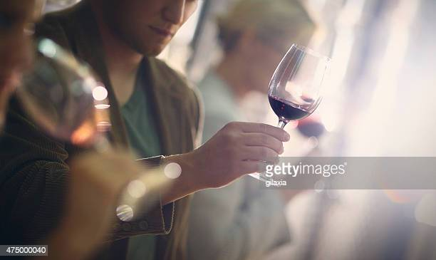 wine tasting event. - viniculture stock pictures, royalty-free photos & images