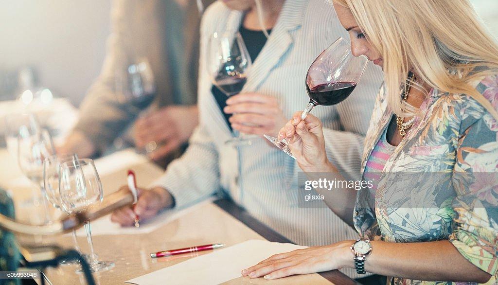Wine tasting event. : Stock Photo