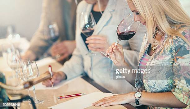 wine tasting event. - chardonnay grape stock photos and pictures