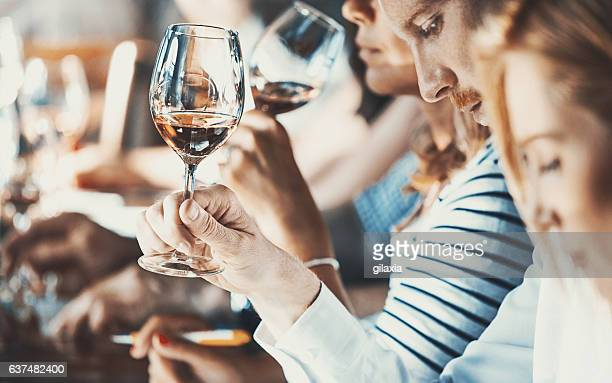 wine tasting event. - tasting stock pictures, royalty-free photos & images