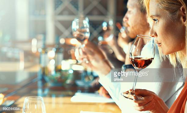 wine tasting. - viniculture stock pictures, royalty-free photos & images