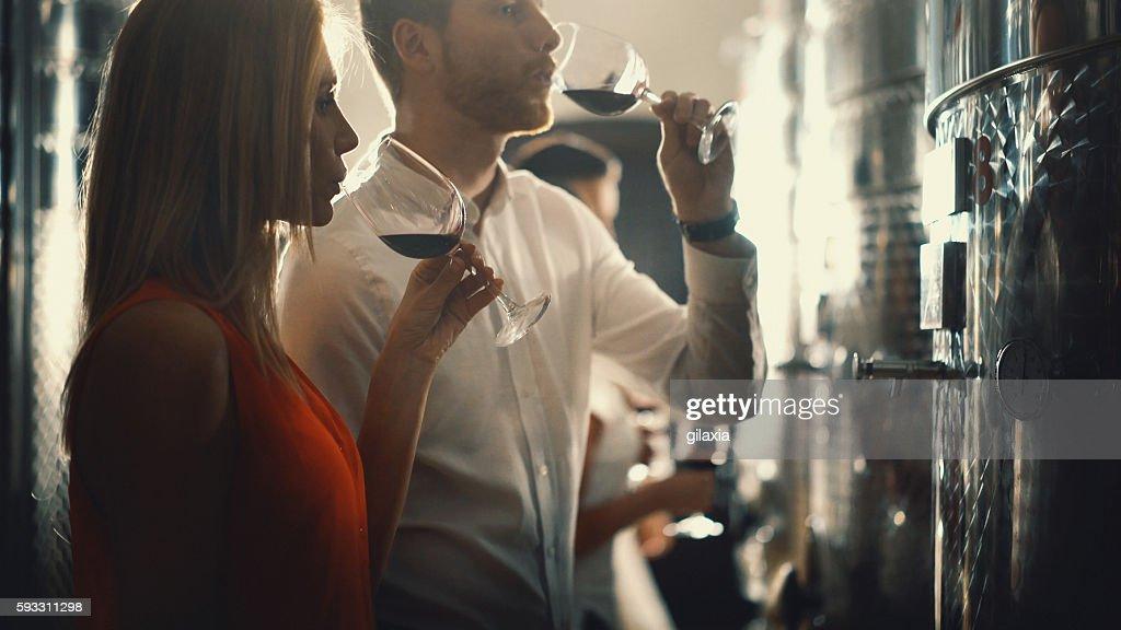 Wine tasting. : Stock Photo