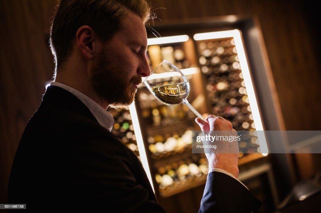 Wine tasting : Stock Photo
