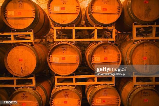 Wine tasting room at Sunstone Winery, Santa Ynez Valley near Santa Barbara, California.