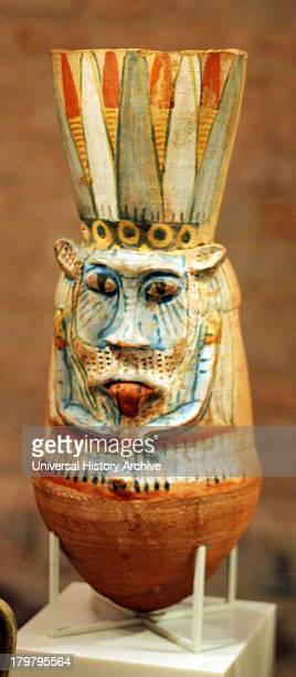 Wine vessel in the shape of the god Bes New Kingdom