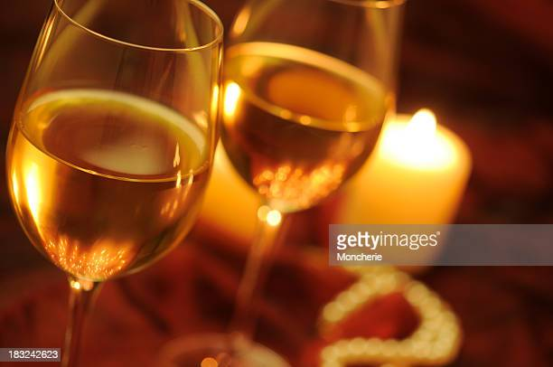 Wine With Christmas Lights